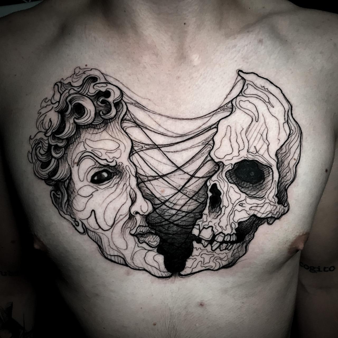 Tatuaż Czaszka od Koszeli