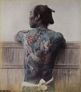 Adolfo Farsari tatuaż japoński