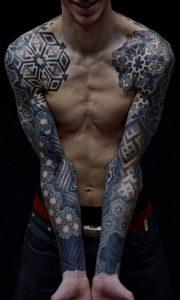 Tatuaż geometryczny - przykład 2