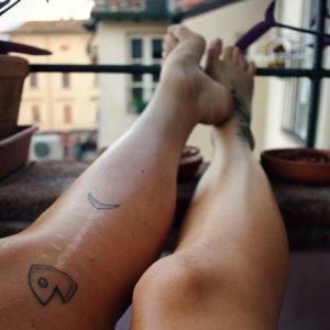 zabawne tatuaże podkreślające bliznę - przykład ryby